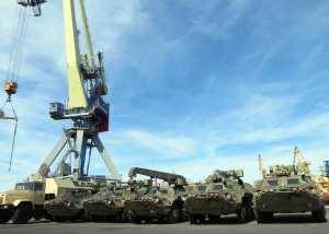 The Second Batch of BTR-4 Armoured Personnel Carriers Shipped to Iraq from Odessa Seaport