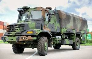 Mercedes-Benz Special Trucks Zetros 4x4 GTF armoured logistics vehicle