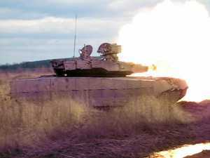 Oplot MBT is firing