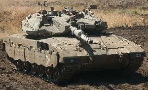Israeli Merkava main battle tank