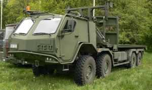 SISU 8x8 Military Truck on tour in Norway