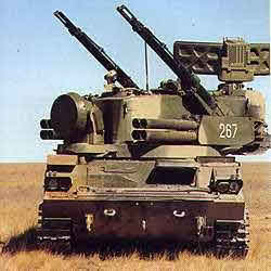 Tunguska-M1 Air Defence Systems