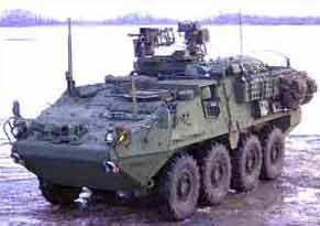Stryker wheeled combat vehicle