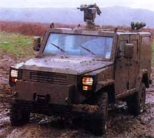 RG-32M mine-hardened patrol vehicle