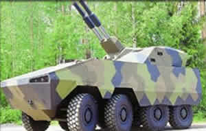 AMOS-AMV Mortar Vehicle