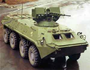 Upgraded BTR-70 armoured personnel carrier, called Skif (Scythian)