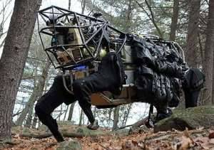 DARPA has developed the LS3 four-legged semi-autonomous robot, dubbed AlphaDog