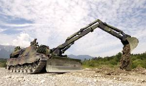 Leopard armoured engineer and mine-clearance vehicle