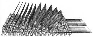 Macedonian phalanx armed with sarissas