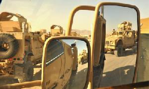 U.S. Mine Resistant Ambush Protected (MRAP) vehicles in Afghanistan
