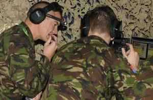Trainees participating in a training scenario at RAF Waddington
