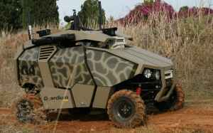 Guardium UGV, currently operational with the IDF