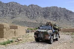 Bushmaster PMV австралийское армии проводит разъезд в долине Белуджи в Афганистане