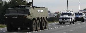 Бронированные машины из AMZ едут на выставку в Кельце