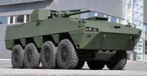 Patria представила БТР AMV с новым боевым модулем PROTECTOR