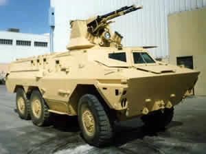 Бронетранспортер RATEL с боевым модулем БАУ-23х2