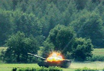 Испытания ракеты LAHAT