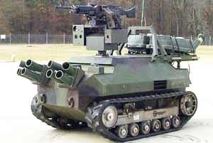 Боевой робот с модулем SWARM
