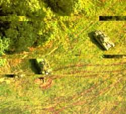Вид полигона на дисплее пульта управления комплекса «Черный дятел»