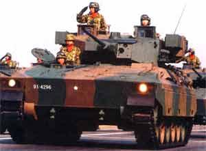 Боевая машина пехоты Type 89 на параде в Токио
