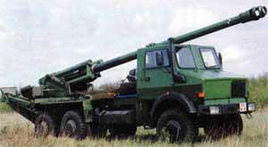 Cамоходая артиллерийская установка калибра 155мм с длиной ствола 52 калибра CAESAR