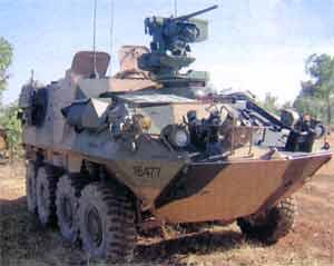 Дистанционно управляемый боевой модуль Protector фирмы Kongsberg, установленный на австралийский ASLAV