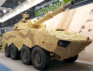 IDEX 2019: Patria и Leonardo представлюят AMV XP 8x8 с башней Hitfact