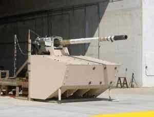 Испытание пушки для комплекса  управляемого вооружения бронированной машины