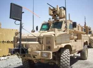 PROTECTOR CROWS II, установленный на машину MRAP