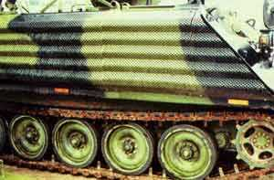 M113 perforated add-on armour