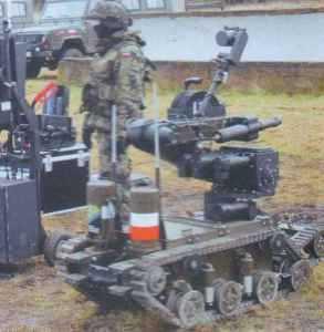 Польский робот, разработанный Промышленным институтом автоматики и измерений (PIAP), предназначен для выполнения боевых задач