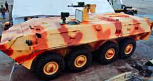 Румыния демонстрирует свой колесный БТР Saur-2