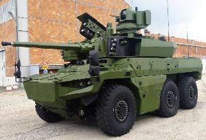 Jaguar, опытный образец которого был представлен Nexter 16 мая 2018 года, является одной из бронемашин программы Scorpion
