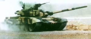 Основной боевой танк Т-90, поставленный Россией в Индию