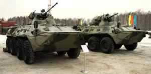 Премьера новых бронетранспортеров ООО «Военно-промышленная компания»