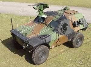 Боевой модуль WASP, установленный на машине VBL